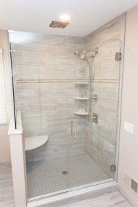 Glass-Shower-Door-Gray-Tiled-Shower
